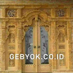 Pintu Model Gebyok 3 Meter Kaca