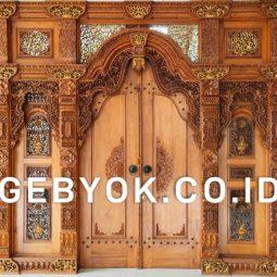 Pintu Model Gebyok Jawa Ukir Jepara Megah dan Mewah