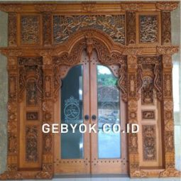 Pintu Ukir Gebyok Model Tempel 3 meter jawa antik