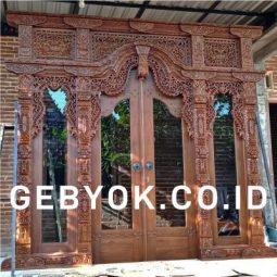 Pintu Rumah Gebyok 3 meter salak Minimalis Kaca One Way