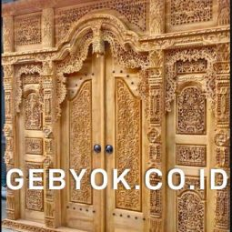 Pintu Gebyok Ukir Jepara 3 Meter Jawa Antik